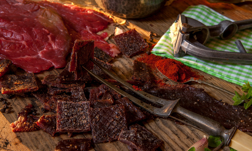 beef-and-beef-jerky-on-table